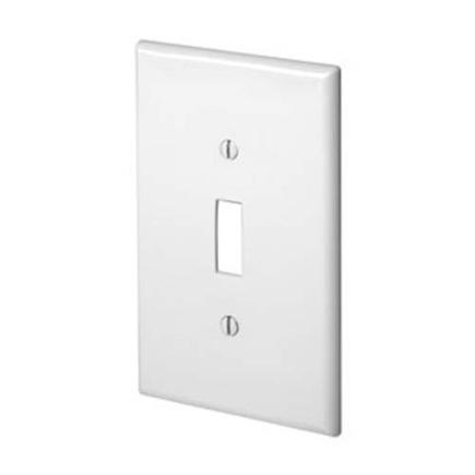 leviton 1 gang toggle switch wall plate